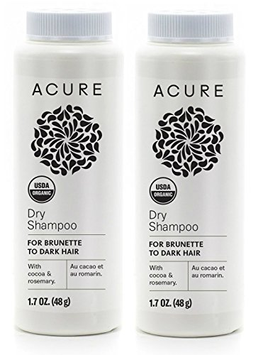 Dry Hair Mint Shampoo (Acure Organics Dry Shampoo For Brunette to Dark Hair With Arrowroot, Rosemary and Peppermint, 1.7 oz (Pack of 2))