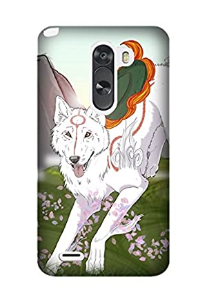 LG K10 case, Game Okami [Durable Anti-Slip] TPU Defensive Case Compatible with LG K10 Design By [Mariko C. Willis]