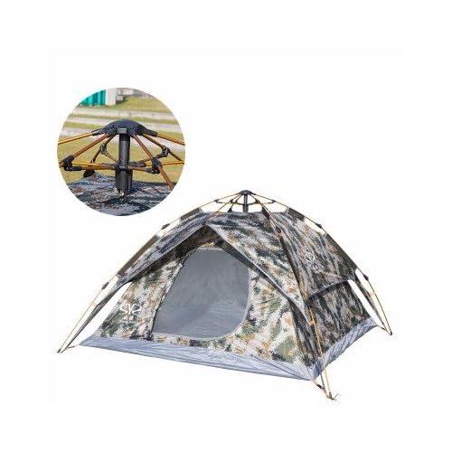 zhudj Outdoor 3–4 personne tente Double Deck automatique Camouflage, vent  et de pluie b65d419a6da2