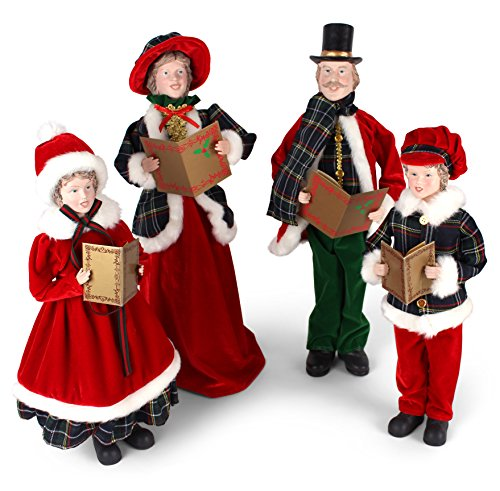 Set of 4 Dickens Family Christmas Carolers 21-1/2 Inches ...
