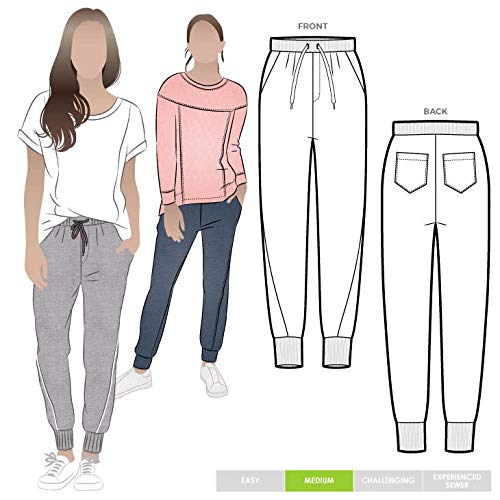 Style Arc Sewing Pattern - Joni Knit Track Pant (Sizes 04-16) - Click for Other Sizes Available