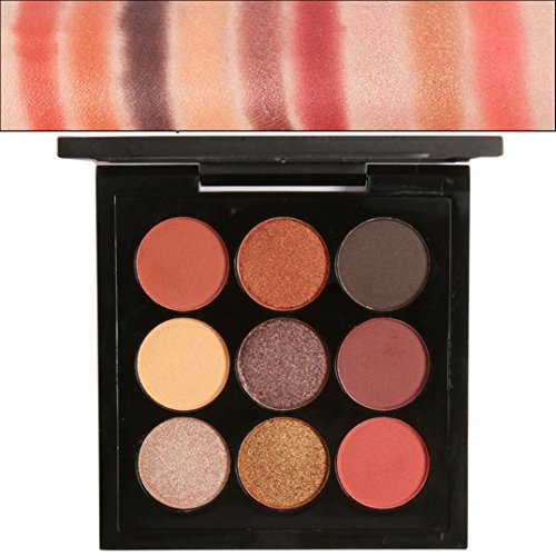 Misaky Classy Intensity Single Baked Shimmer Retro 9 Colors Smoky Eye Shadow Makeup Makeup Kit Pigment Palette (#E)
