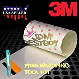 JDMBESTBOY Free Tool KIT 3M Scotchgard Hood Bumper Paint Protection Brace Clear Film Vinyl Wrap Decal Self Adhesive - 3