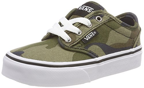 Vans Boys' Atwood Canvas Classic Low-Top Sneakers, Multicolour ((Canvas) Camo Ufy), 5 ()