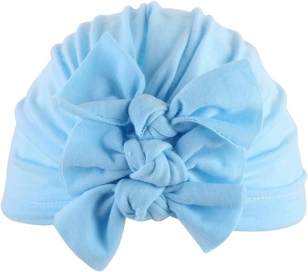 Lumsinker Cute Baby Girls Turban Knot Infant Headbands Hospital Cap Wraps Hat