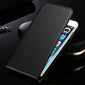 "Genuine Leather Case For iPhone 6 6G 4.7"" Inch Flip Style Mobile Phone Bag Cover Case Black Brown Drop Ship --- Color:orange"