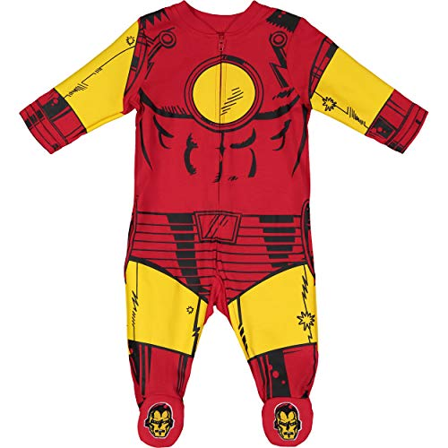 Marvel Avengers Iron Man Baby Boys' Zip-Up Costume Coverall with Footies (0-3 Months)]()