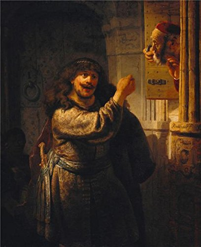 'Rembrandt Harmenszoon Van Rijn-Samson Accusing His Father-in-Law,1635' Oil Painting, 16x20 Inch / 41x50 Cm ,printed On Perfect Effect Canvas ,this Cheap But High Quality Art Decorative Art Decorative Canvas Prints Is Perfectly Suitalbe For Gym Decoration And Home Gallery Art And Gifts