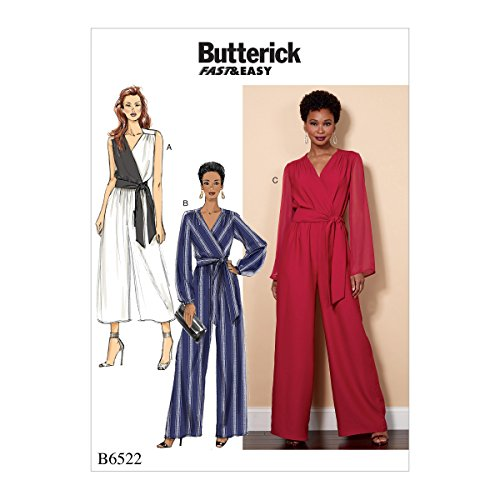 Butterick Patterns B6522RR0 Misses'/Women's Jumpsuit and Sash Sewing Pattern, RR (18W-20W-22W-24W)