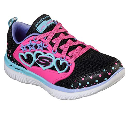 Heart Skechers Girls - Skechers Skech Appeal 2.0 Magic Hearts Girls Sneakers Black/Multi 2.5