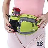 Innokids Fanny Pack with Water Bottle Holder Hiking Waist Pack Lumbar Waist Bag for Women Men Running Dog Walking Camping Travel (Fruit Green)