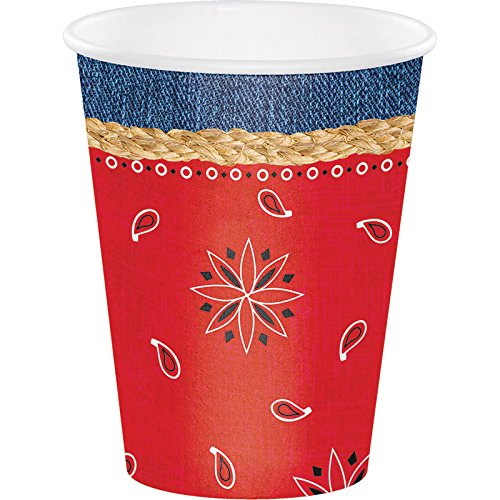 and Cups Creative Converting 16153 Luncheon Napkins Bandanarama Party Supplies Pack for 16 Guests: Straws Dinner Plates