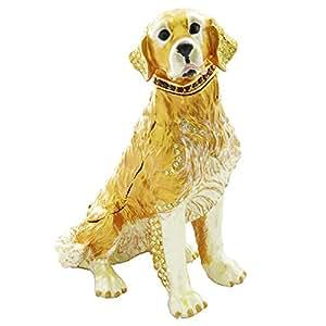 Amazon.com: Collectable Enameled Golden Retriever Dog