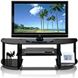 TV Stand For Flat Screens Premium Entertainment Center Furniture In Wood Espresso For Up To 42 Inch Screen