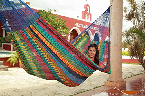 Thick Cord Large Mayan Hammock Multicolor Cotton