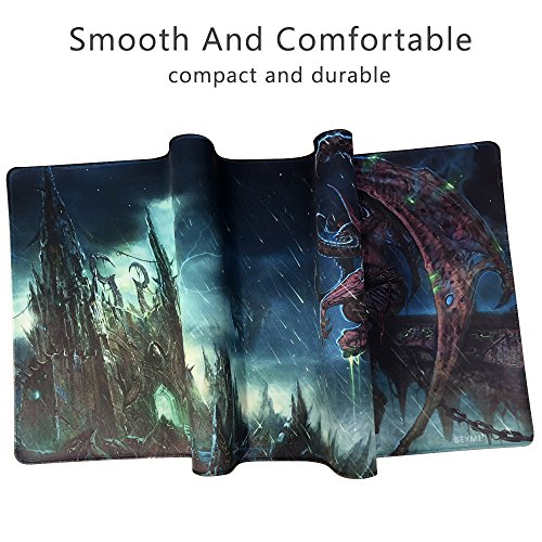 Beymemat Large Gaming Mouse Pad XXL Size (900x400mm) Extended Mouse Mat/Desk Pad with Non-Slip Rubber Base, Special-Textured Surface for Keyboard and Mouse (Illidan Stormrage003)