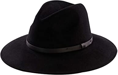 Classic Fedora Hat for Men /& Women Wide Brim Panama Hat Vintage Gangster Hat with Black Band and Feather