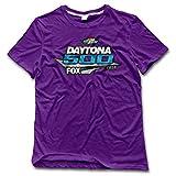 CHALZ Men's Daytona 500 2016 Logo Crew Neck T Shirt XL Purple