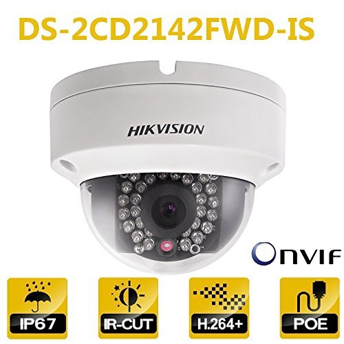 Hikvision Dome IP Camera DS-2CD2142FWD-IS 4MP 2.8Mm Lens PoE Network Security Camera HD 1080P Day/Night IR To 30M Wide Dynamic Range Ip67 IK10 H.264 Onvif English Version For Sale