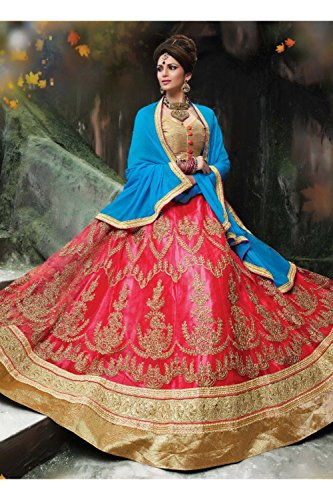 Da Facioun Indian Women Designer Wedding gajri Lehenga Choli K-4595-40302