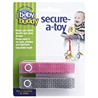 Baby Buddy Secure-A-Toy, Safety Strap Secures Toys, Teether, or Pacifiers to ...