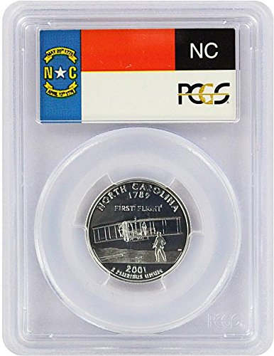 (2001 North Carolina State S Silver Proof Quarter PR-69 PCGS )