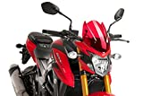 Puig Windshield 9435R Naked New Generation Sport Screen 2017 Suzuki GSX-S750 Red Windscreen
