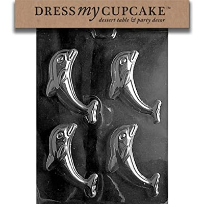 Dress My Cupcake Chocolate Candy Mold, Dolphin, Nautical