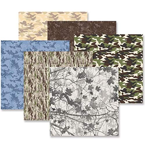 Camouflage Paper Pack 12x12 Scrapbook and Card Making (12/pk) by Crative - Scrapbook Paper Camo