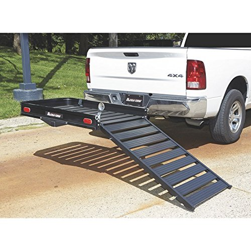 Ultra-Tow Aluminum Cargo Carrier with Ramp - 500-Lb. Capacity, 50in.L x 30.25in.W x 4in.H