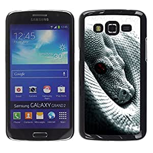Design for Girls Plastic Cover Case FOR Samsung Galaxy Grand 2 Snake With Red Eye OBBA