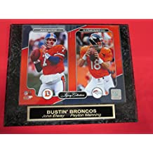 Peyton Manning John Elway DENVER BRONCOS Collector Plaque w/8x10 NEW LEGACY Photo
