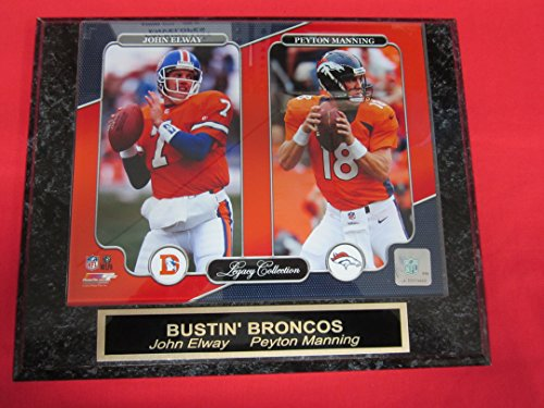 Peyton Manning John Elway DENVER BRONCOS Collector Plaque w/8x10 NEW LEGACY Photo (Collectors Peyton Manning)