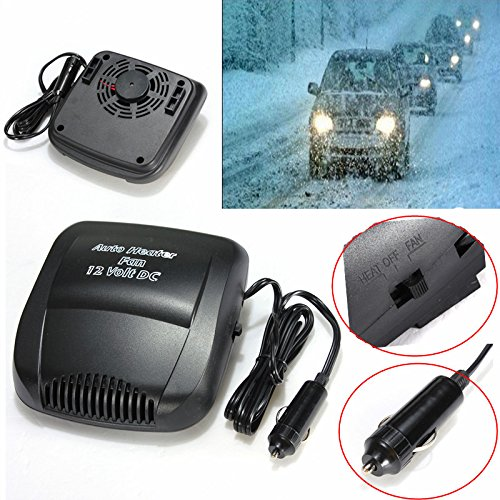UltaPlay(TM) New 12V 150W Black Portable Car Heater Heating Fan Window Windscreen Defroster Demister Hot Warm Air Conditioner ()