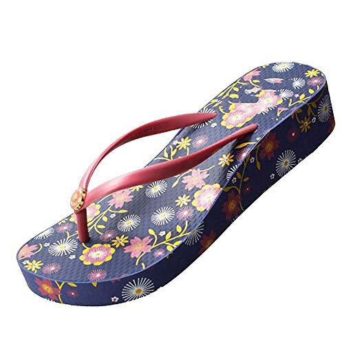 Plataforma Azul Moda Playa Verano Flip Zapatos Flops Marino Resbaladiza Slip De Chanclas En aqxP0Hq