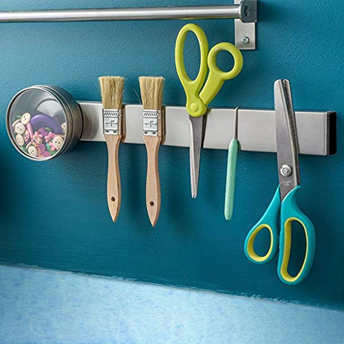 Magnetic Knife Strip, Adhesive Knife Holder, Pendee Self Adhesive Knife Rack Magnetic Strip Self Adhesive Magnetic Tool Holder | 304 Stainless Steel | (16 Inch) - Middle by Pendee (Image #6)