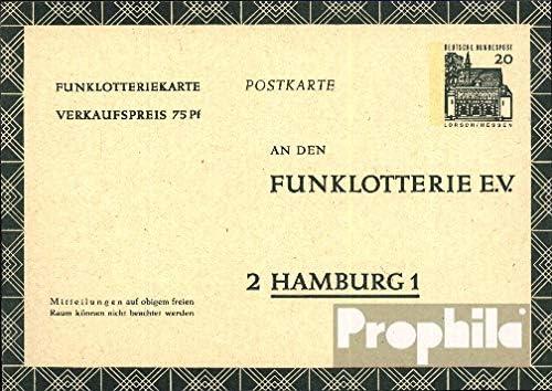 Belege Ganzsachen f/ür Sammler FP12b Funklotterie-Postkarte 1966 Bauwerke I BR.Deutschland Prophila Collection BRD