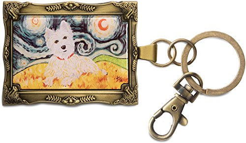 Pavilion Gift Company 12025 Paw Palettes Keychain, 2 by 2-3/4-Inch, West Highland Terrier Van - Key West Boutiques