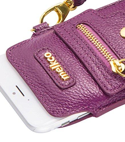 Apple iPhone Plus 6S / 6 Plus Series Melkco Hex-roca de la bolsa con la PU caso y Artesanos soporte de la carpeta de la manera caja de la carpeta Carolo Purple LC