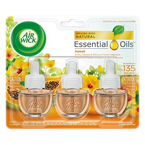 Air Wick Scented Oil 3 Refills, Hawaii, (3X0.67oz), Air Freshener
