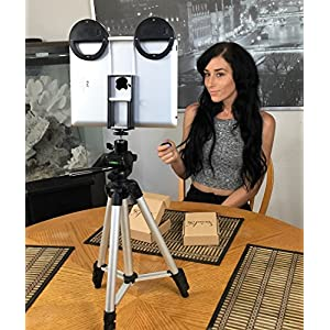 SOCIALITE Mini LED Live Video Photo Fill Ring Light Kit Incl 2 Mini Selfie Lights, Tripod Stand, Remote, Mounts Your iPad, tablet, DSLR Cameras, iPhone 6s Plus Smartphones, For Teleprompter, FaceTime