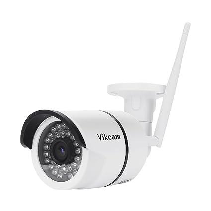 Cámara de vigilancia exterior Vikcam P2P 720p HD WiFi 36 LED IR-CUT visión nocturna