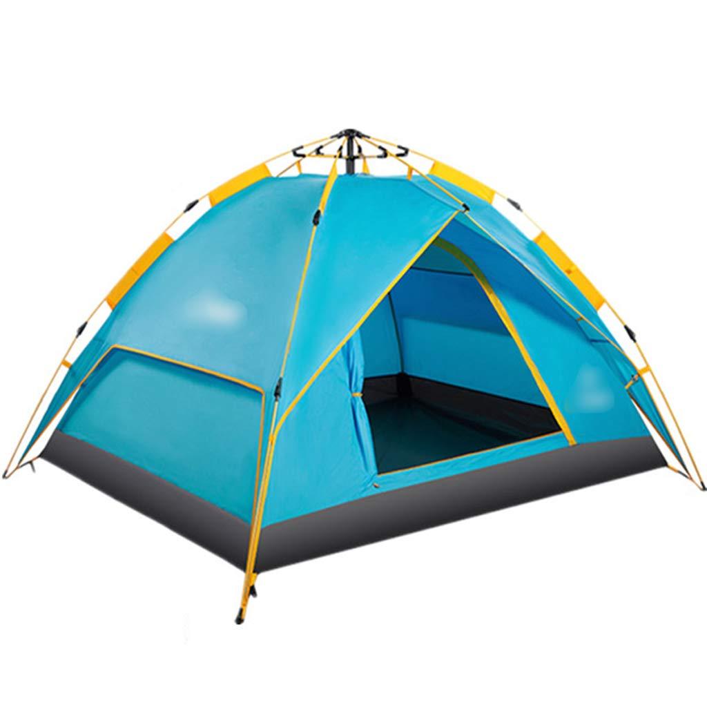 YaNanHome Zelt im Freienzelt Automatische hydraulische Geschwindigkeit öffnen Zelt doppelt regendicht Zelt 2-3 Personen Zelt (Farbe : Blau, Größe : 210  180  130cm)