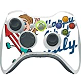 Happy 4th of July Quote Cute Girl on Firework American Flag Image Design Pattern Xbox 360 Wireless Controller Vinyl Decal Sticker Skin by Trendy Accessories