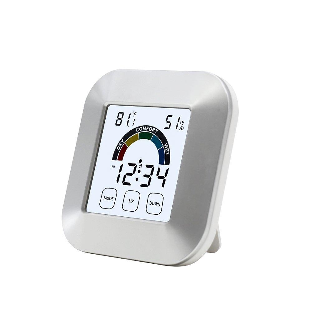 Karen Indoortemperatureandhumiditywirelessmonitortouchalarm clock