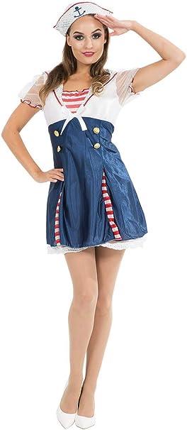ORION COSTUMES Disfraz Uniforme de Marinera Naval para Mujeres