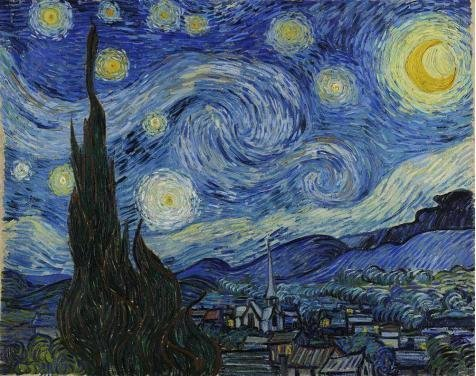 'Vincent Van Gogh-The Starry Night,1889' Oil Painting, 12x15 Inch / 30x39 Cm ,printed On High Quality Polyster Canvas ,this Replica Art DecorativeCanvas Prints Is Perfectly Suitalbe For Kids Room Gallery Art And Home Gallery Art And Gifts
