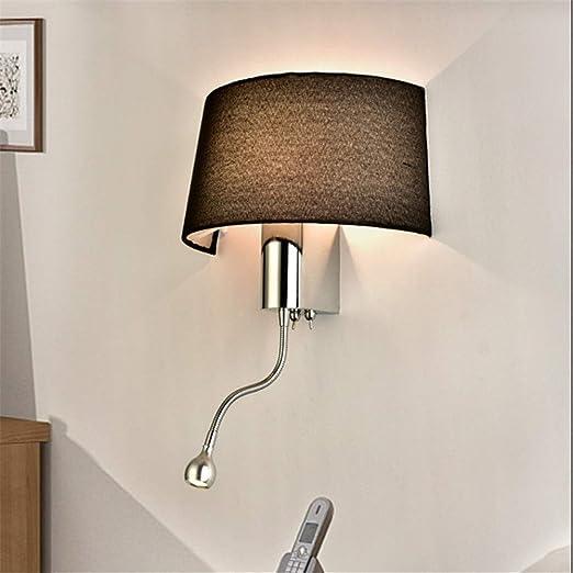 Luz de pared moderna Cama corta Lámparas de pared Lámpara de ...