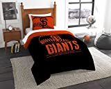 SF Giants OFFICIAL Major League Baseball, Bedding, Printed Twin Comforter (64x 86) & 1 Sham (24x 30) Set