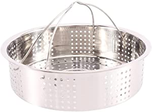 Bouddha Stainless Steel Steamer Basket, Multicooker Pasta Cooker Steamer Rack with Handle, Kitchen Cookware for Rice Cooker(21cm)